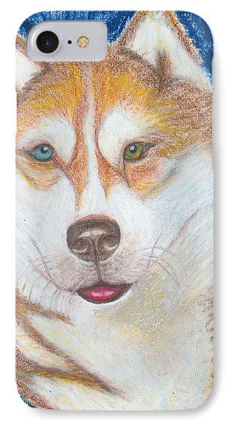 Alek The Siberian Husky IPhone Case by Ania M Milo