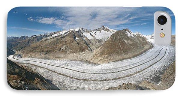 Aletsch Glacier, Switzerland Phone Case by Dr Juerg Alean