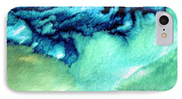 Aleutian Clouds Alaska Watercolor From Landsat Image IPhone Case