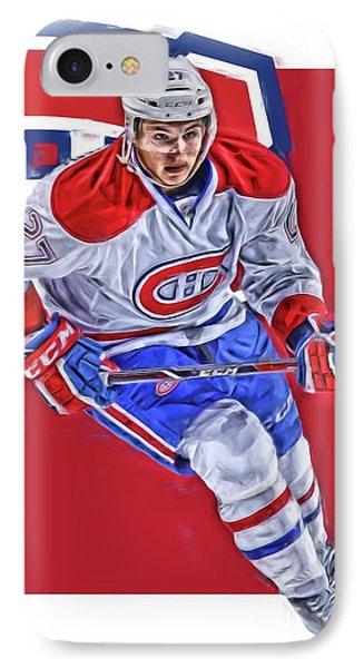 Alex Galchenyuk Montreal Canadiens Oil Art IPhone Case