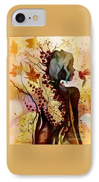 IPhone Case featuring the painting Alex In Wonderland by Denise Tomasura
