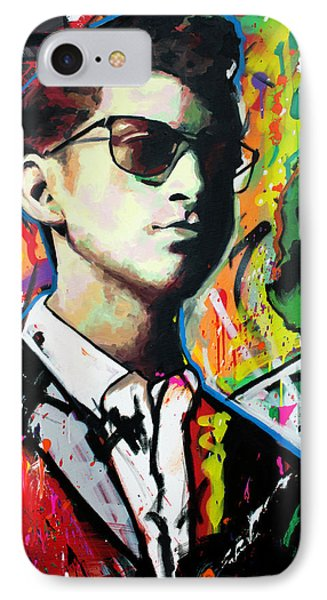 IPhone Case featuring the painting Alex Turner by Richard Day