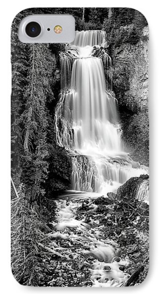 IPhone Case featuring the photograph Alexander Falls - Bw 1 by Stephen Stookey