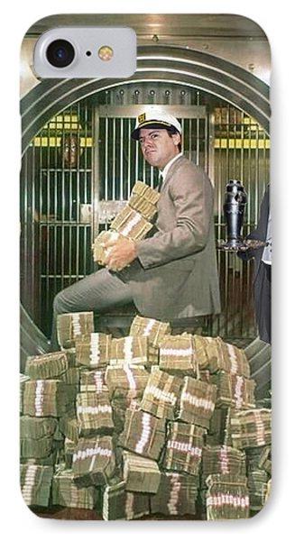 Alexander G. Bernard, His Money, Kimberly Diamond And Mr. Goldsworth  IPhone Case by Jim Fitzpatrick
