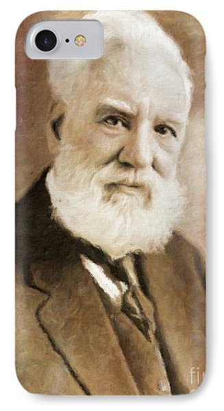 Alexander Graham Bell, Infamous Inventor By Mary Bassett IPhone Case by Mary Bassett