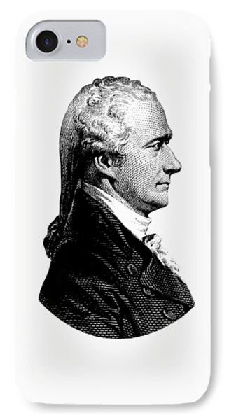 Alexander Hamilton Graphic Portrait  IPhone Case by War Is Hell Store