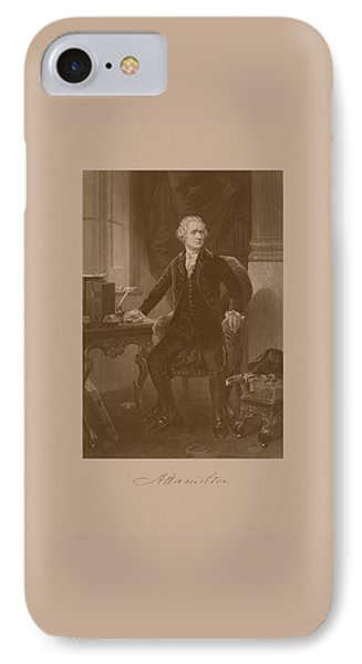 Alexander Hamilton Sitting At His Desk Phone Case by War Is Hell Store