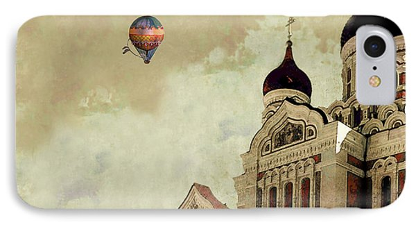 IPhone Case featuring the digital art Alexander Nevsky Cathedral In Tallin, Estonia, My Memory. by Jeff Burgess