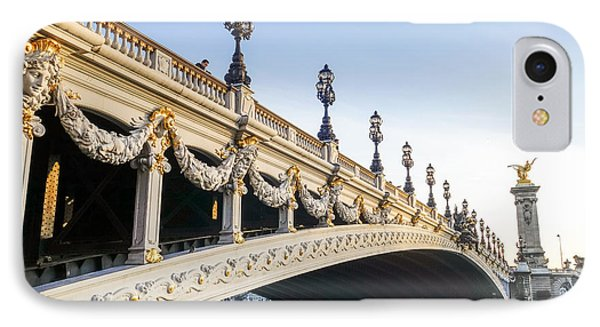 Alexandre IIi Bridge In Paris France Early Morning IPhone Case by Perry Van Munster
