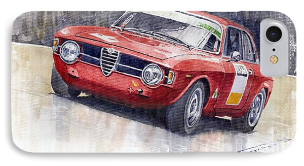 Alfa Romeo Giulie Sprint Gt 1966 IPhone Case by Yuriy  Shevchuk