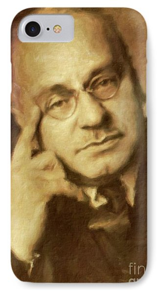 Alfred Adler, Psychotherapist By Mary Bassett IPhone Case by Mary Bassett