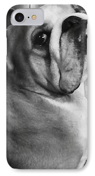 Alfred Hitchcock Bullie Pose IPhone Case by Kym Backland