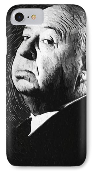 Alfred Hitchcock IPhone 7 Case by Taylan Apukovska
