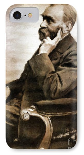 Alfred Nobel, Scientist By Mary Bassett IPhone Case by Mary Bassett