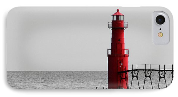 Algoma Lighthouse Bwc IPhone Case by Mark J Seefeldt