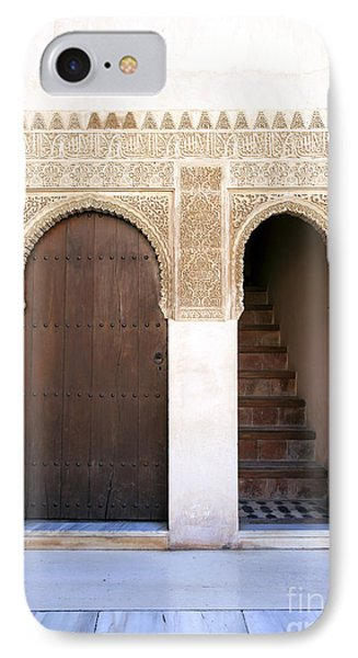 Alhambra Door And Stairs Phone Case by Jane Rix