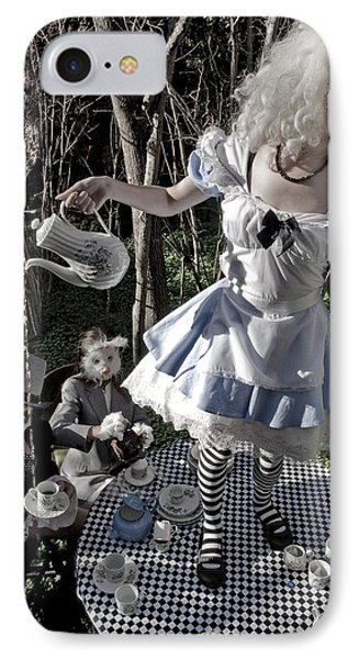 Alice And Friends 1 IPhone Case by Kelly Jade King