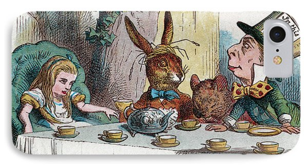 Alice At The Mad Hatter's Tea Party In Wonderland IPhone Case