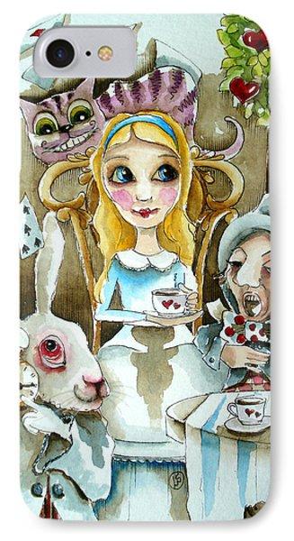 Alice In Wonderland 1 IPhone Case by Lucia Stewart