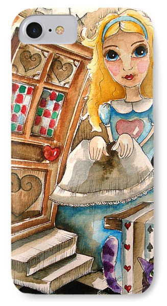 Alice In Wonderland 2 Phone Case by Lucia Stewart