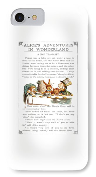 Alice In Wonderland Tea Party IPhone Case by Charlie Ross