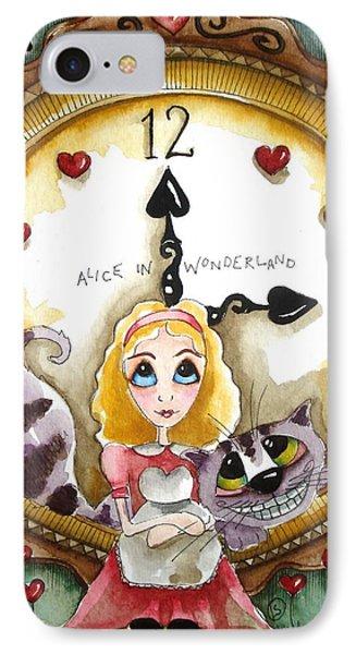 Alice In Wonderland Tick Tock Phone Case by Lucia Stewart