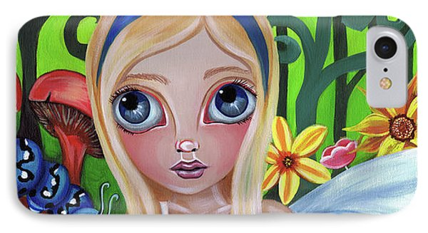 Alice Meets The Caterpillar Phone Case by Jaz Higgins