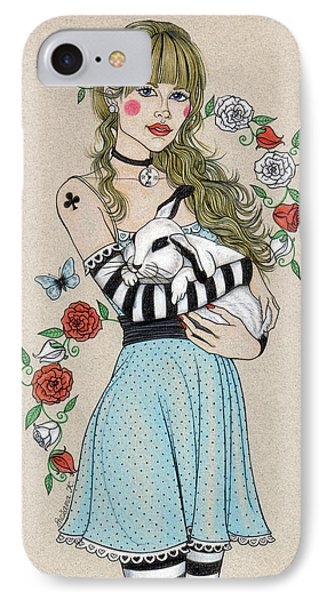 Alice IPhone Case by Snezana Kragulj