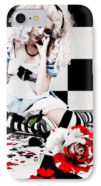 Alice2 IPhone Case by Kelly Jade King