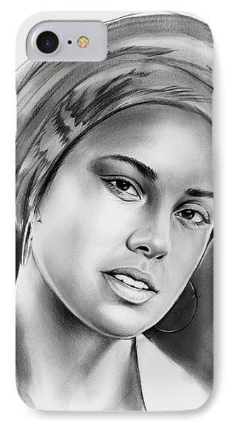 Rhythm And Blues iPhone 7 Case - Alicia Keys 2 by Greg Joens