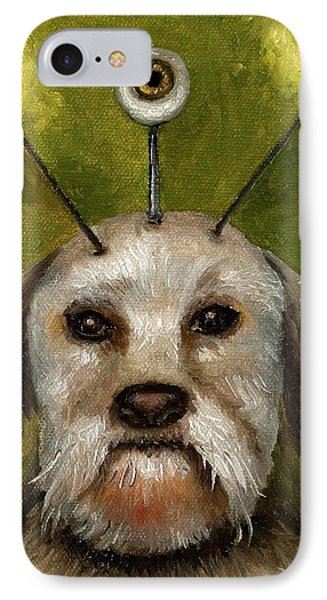 Alien Dog Phone Case by Leah Saulnier The Painting Maniac
