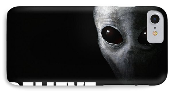Alien Grey - Believe IPhone Case by Pixel Chimp