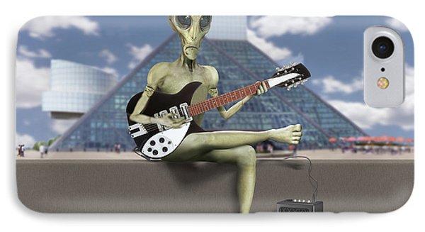 Alien Guitarist 1 IPhone Case