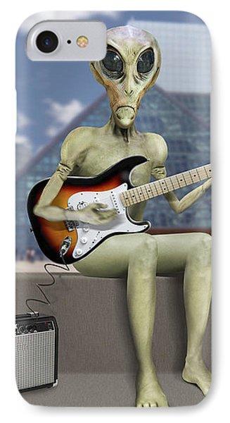 Alien Guitarist 2 IPhone Case