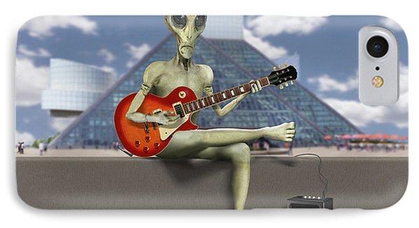 Alien Guitarist 3 IPhone Case