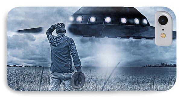 Alien Invasion Cyberpunk Version IPhone Case by Edward Fielding