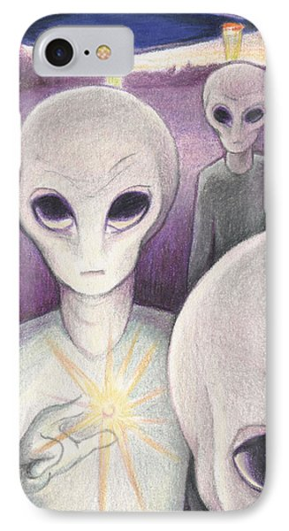 Alien Offering Phone Case by Amy S Turner