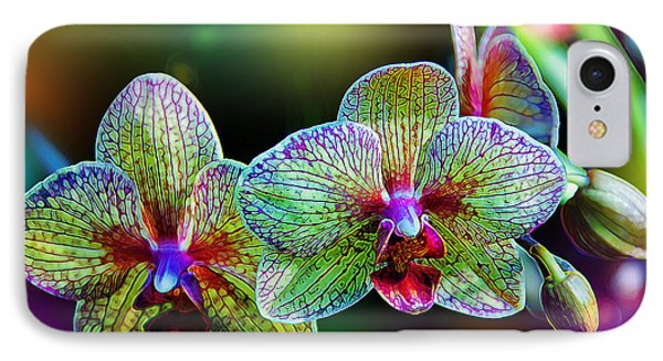 Alien Orchids IPhone 7 Case by Bill Tiepelman