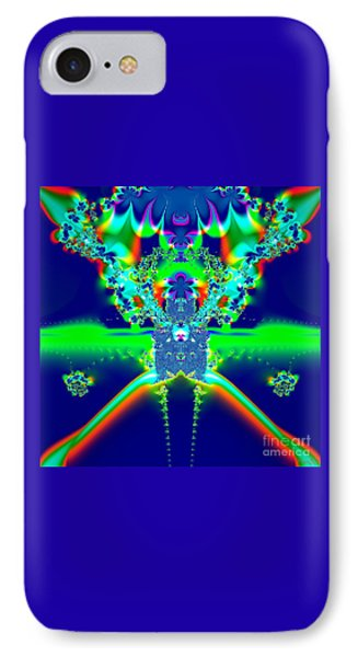 Alien Poodle Fractal 96 IPhone Case by Rose Santuci-Sofranko