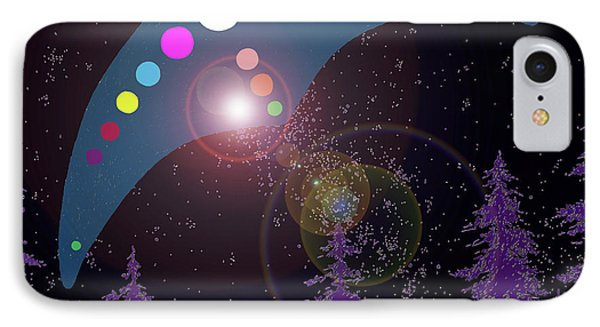 IPhone Case featuring the painting Alien Skies by James Williamson
