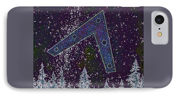 IPhone Case featuring the painting Alien Skies Ufo by James Williamson