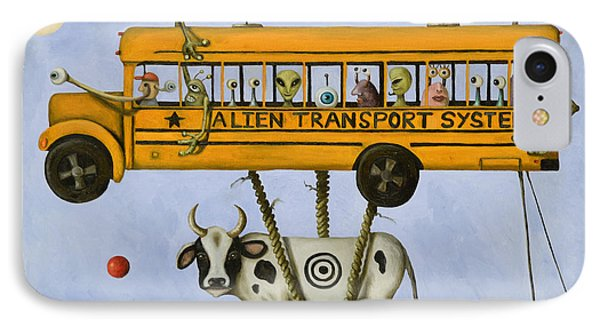 Alien Transport Pro Photo IPhone Case by Leah Saulnier The Painting Maniac