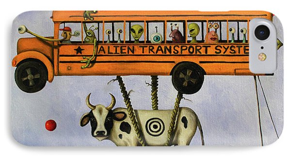 Alien Transport System Phone Case by Leah Saulnier The Painting Maniac