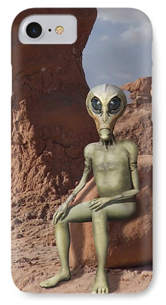 Alien Vacation - Goblin State Park Utah IPhone Case
