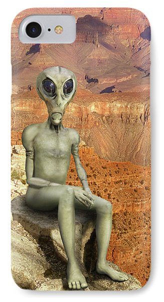 Alien Vacation - Grand Canyon Phone Case by Mike McGlothlen