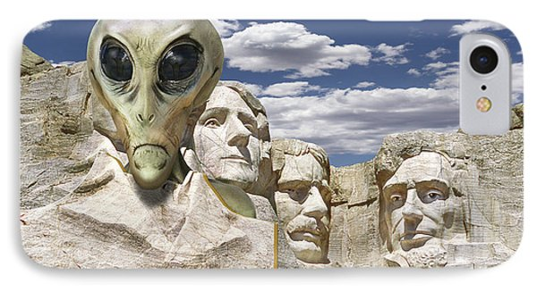 Alien Vacation - Mount Rushmore IPhone Case by Mike McGlothlen