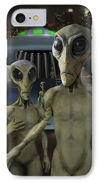 Alien Vacation - The Arrival  Phone Case by Mike McGlothlen