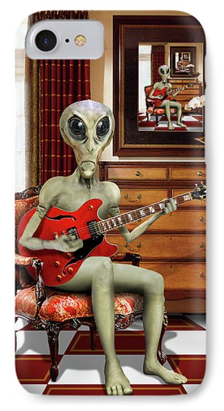 Alien Vacation - We Roll With Jazz IPhone Case