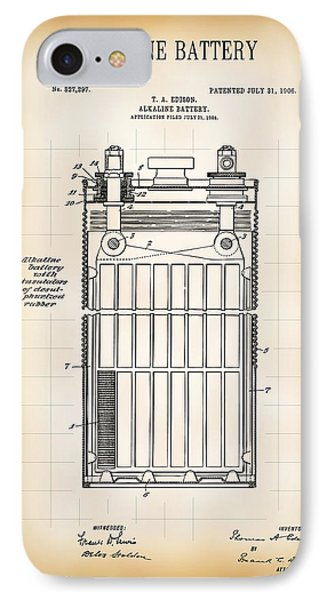 Alkaline Battery Patent 1906 IPhone Case