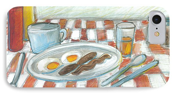 All American Breakfast 2 IPhone Case by Gerry High